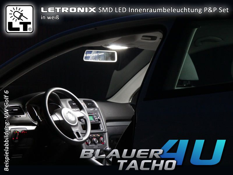 luce interna smd led in bianco blu rosso o verde fiat. Black Bedroom Furniture Sets. Home Design Ideas