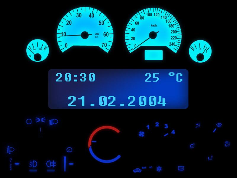 Wei/ß Zafira Agila LED Tachobeleuchtung Opel Astra G blau, rot, gr/ün, wei/ß Blauer Tacho