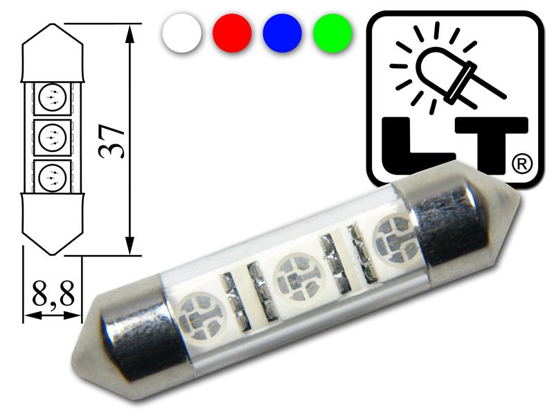 LED-Soffitte-31mm-36mm-42mm-weiss-blau-rot-gruen-Lancia-Musa-Phedra-Thema-Zeta