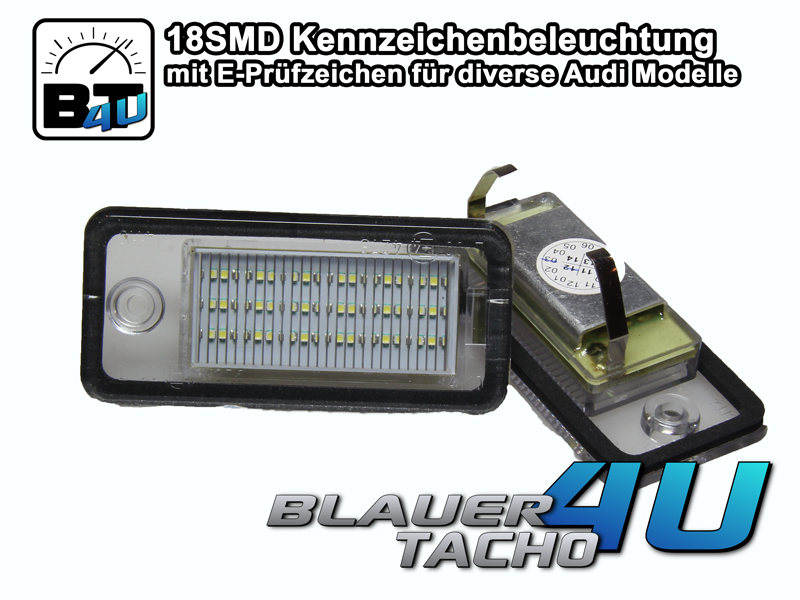 18-SMD-LED-Kennzeichenbeleuchtung-Audi-A3-Cabrio-08-09-E-Prufzeichen-TUV-Frei