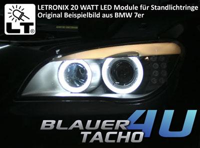20 watt angel eyes led module standlichtringe h8 bmw 1er. Black Bedroom Furniture Sets. Home Design Ideas