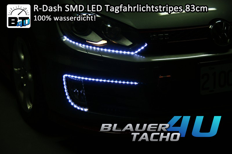 R-Dash-SMD-TFL-Tagfahrlichtstripes-50cm-Tagfahrlicht-kuerzbar-Wasserfest-NEU