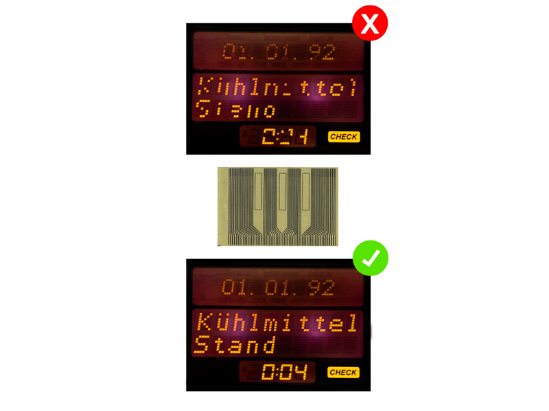 letronix opel mid tacho multifunktions display pixel pixelfehler