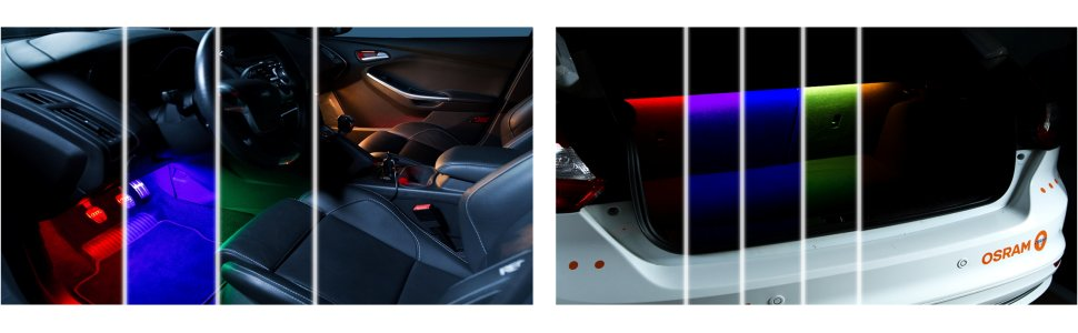BEPHOS® RGB LED Innenraumbeleuchtung VW FOX APP Steuerung